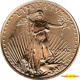 2002 Gold 1/4oz EAGLE
